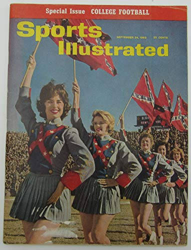 1962 Sports Illustrated Magazine with Ole Miss Rebel Flags on Cover 144474 1962 Sports Illustrated Magazine