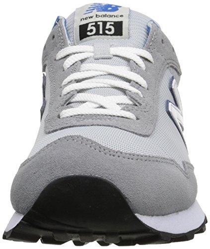 New Balance ML515 - Zapatillas unisex, gris/azul, 46