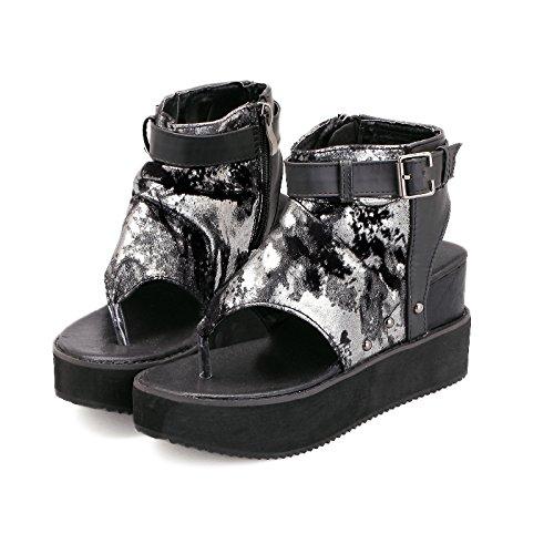 GTVERNH-Damen damen Pumps Heels Sandalen Dicke Sohlen Muffin Schuhe Sandalen Heels Flip Erhöhte Der Hohen Zwicken Coolen Stiefel Sommer 88421c