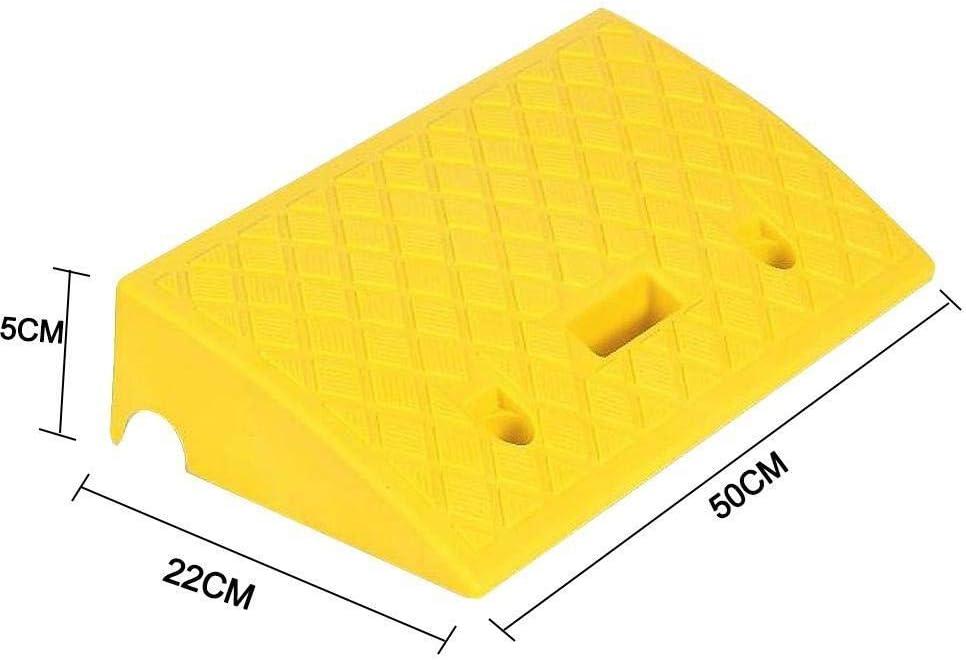 Rampas portátiles Umbral Rampas Heavy Duty Plastic Kit de rampa fijado for el Camino de entrada de la acera Movilidad silla de ruedas (Color : Yellow, Size : 50x22x5cm)