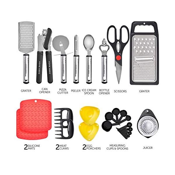 Home Hero Kitchen Utensil Set Cooking Utensils Set - Nylon Kitchen Utensils Set Kitchen Tool Set 44 Pcs. Cooking Utensil… 4