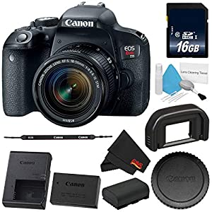 6Ave Canon Eos Rebel T7i DSLR Camera 18 55mm Lens 1894c002 Standard Bundle International Version (No)