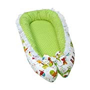 Lappi Baby Lounger/Bed Bassinet - Giraffes Unisex Baby Nest - 100% Cotton Cosleeping Baby Bed - Breathable & Hypoallergenic Sleep Nest - Newborn Lounger Pillow