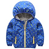 ACESTAR Boys Jacket Lightweight Zipper Hooded Windproof Coats Autumn Windbreaker