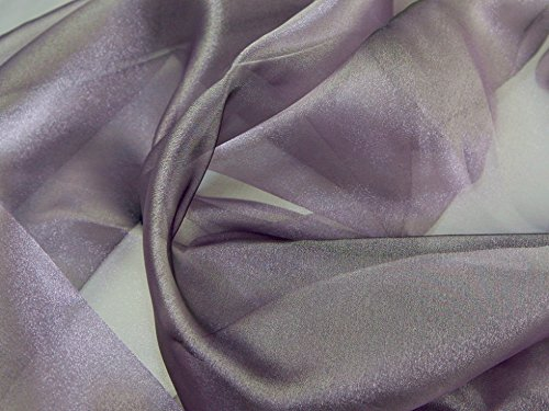 Two Tone Crystal Organza Dress Fabric Pewter - per metre