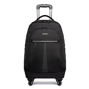 WDGT 4 rondas Trolley bag Mochila para portátil de negocios Flying Approved Viaje ligero a prueba de agua Trolley bag Laptop Roller Bag: Amazon.es: Deportes ...