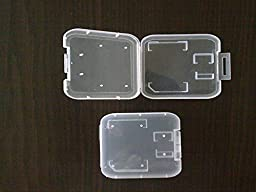 100PCS MICRO SD CARD CASE W/ADAPTOR & MEMORY CARD HOLDER CLEAR DL8