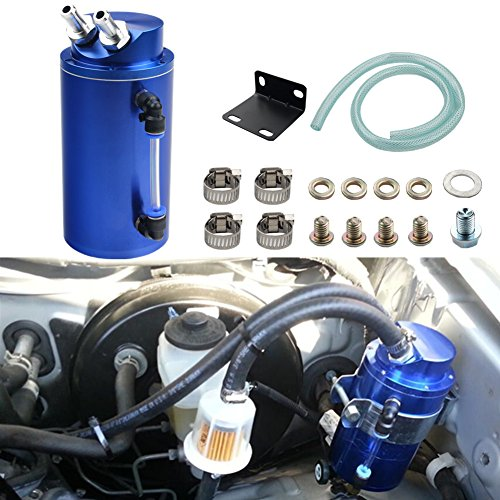 Dewhel Universal Cylindrical JDM 750ml Aluminum Engine Oil Catch Can Reservoir Tank ()