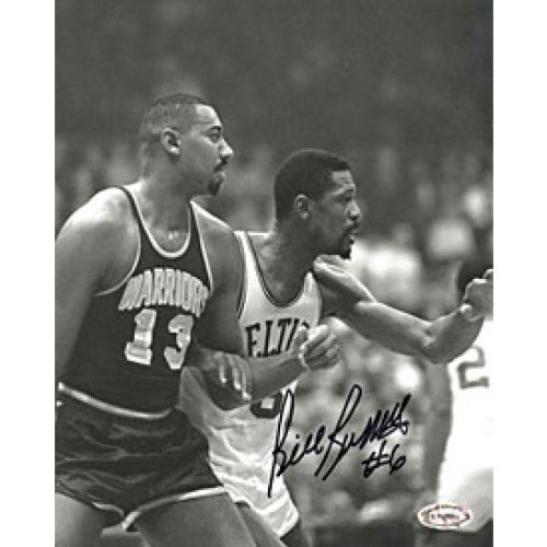Bill Russell Autographed Signed Guarding Wilt Chamberlain 8x10 (Bill Russell Autographed Photograph)