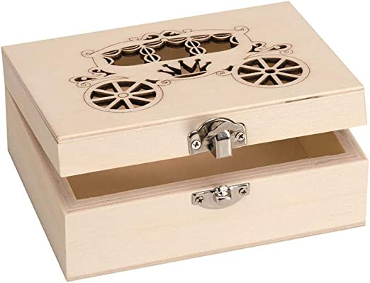 Glorex Caja rectangular de madera contrachapada de álamo (20 x 15 ...