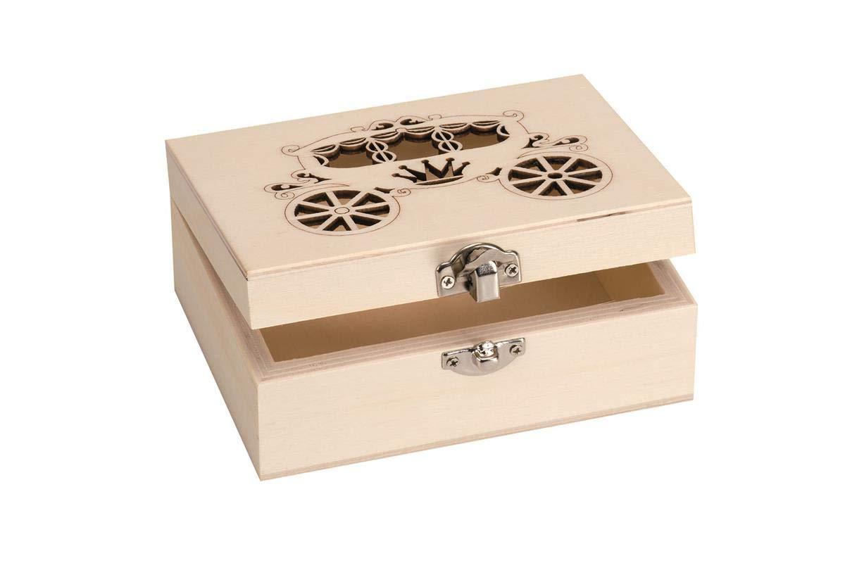 Caja rectangular madera 20/x 15/x 10/cm chopo contrachapado para