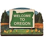 Oregon State Welcome Sign Wood Fridge Magnet 2