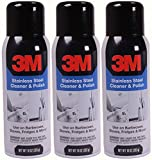 3M Stainless Steel Cleaner and Polish, 10 Ounce, (Pack of 3)