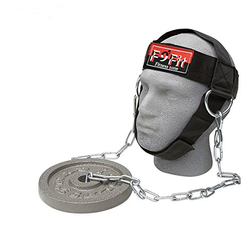 Head Harness Neck - F9fit Pro Adjustable Head Harness Dipping Neck Builder Belt Weight Lifting Chain