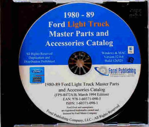 FORD LIGHT TRUCK FACTORY MASTER PARTS CATALOG on CD - INCLUDES: F150 F250 F350 models. 1982 1982 1983 1984 1985 1986 1987 1988 (Ford Truck Parts Catalog)