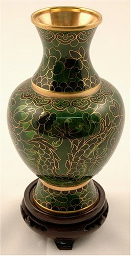 Cloisonne Vase - Cloisonne Polished Vase with base