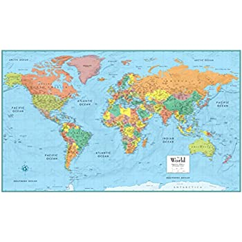 Amazon rand mcnally rm528959948 rand mcnally full color 50 x rand mcnally rm528959948 rand mcnally full color 50 x 32 laminated world wall map gumiabroncs Choice Image