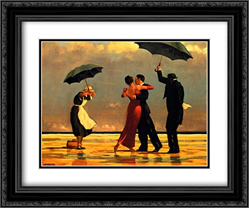 - The Singing Butler 2X Matted 24x20 Black Ornate Framed Art Print by Jack Vettriano