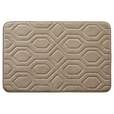 Bounce Comfort Extra Thick Memory Foam Bath Mat - Turtle Shell Premium Micro Plush Mat with BounceComfort Technology, 20 x 32 in. Linen