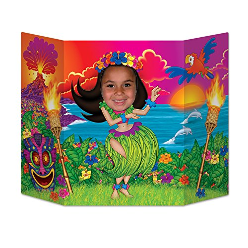 Beistle Hula Girl Photo Property, 3-Feet 10-Inch by 25-Inch, Multicolor -