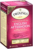 Twinings Black Tea, English Afternoon, 20 Count Bagged Tea (6 Pack)