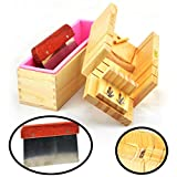 OKOKMALL US--Silicone Soap Mold Rectangle Wooden Box DIY Toast Loaf Baking Cake Molds Cutter