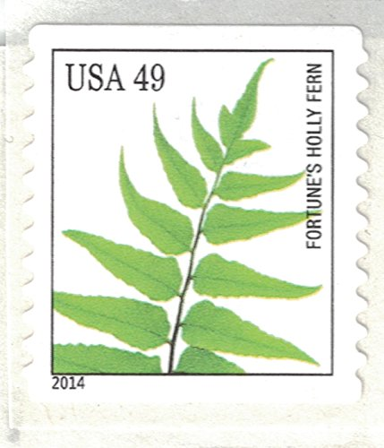 Strips of 10 Ferns USPS Forever Postage Stamps featuring a close up photograph of five different species of fern (10 Strips of 10 Stamps) Photo #4