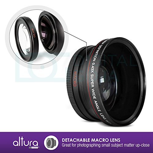 67mm 043x Altura Photo Professional Hd Wide Angle Lens W Import