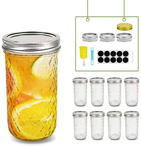 24oz Regular Mouth Mason Jars with Lids