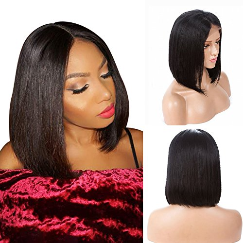 Human Hair Lace Wigs SMHair Straight Glueless Lace Front Wigs for Black...