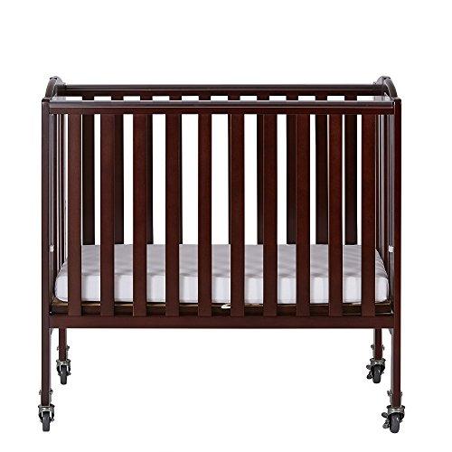 Hardwood Drop Side Crib (Dream On Me 2-in-1 Folding Birch Portable Crib, Espresso)