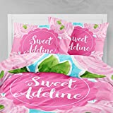 Personalized Bedding Custom Bedspread Sweet Roses
