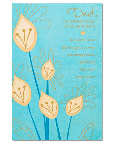 American Greetings Gold Floral Father's Day Card from Daughter with Foil (5873386)