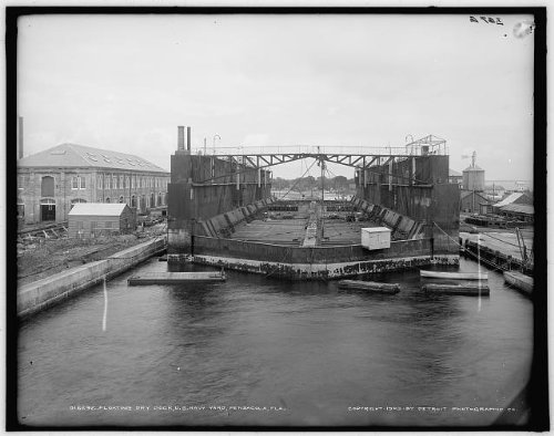 Photo: Floating dry dock,United States Navy Yard,naval - Fl Shopping In Pensacola