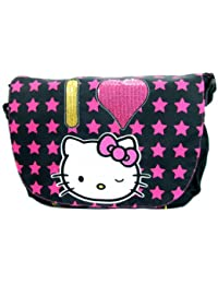 "Hello kitty School Messenger Bag (Size 16"", Star)"