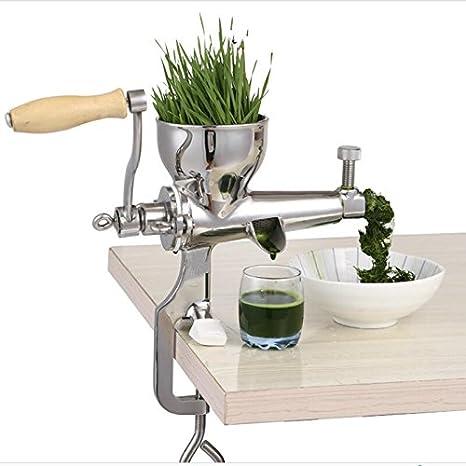 Manual de acero inoxidable wheatgrass licuadora extractor de jugo de hierba de trigo sano: Amazon.es: Hogar
