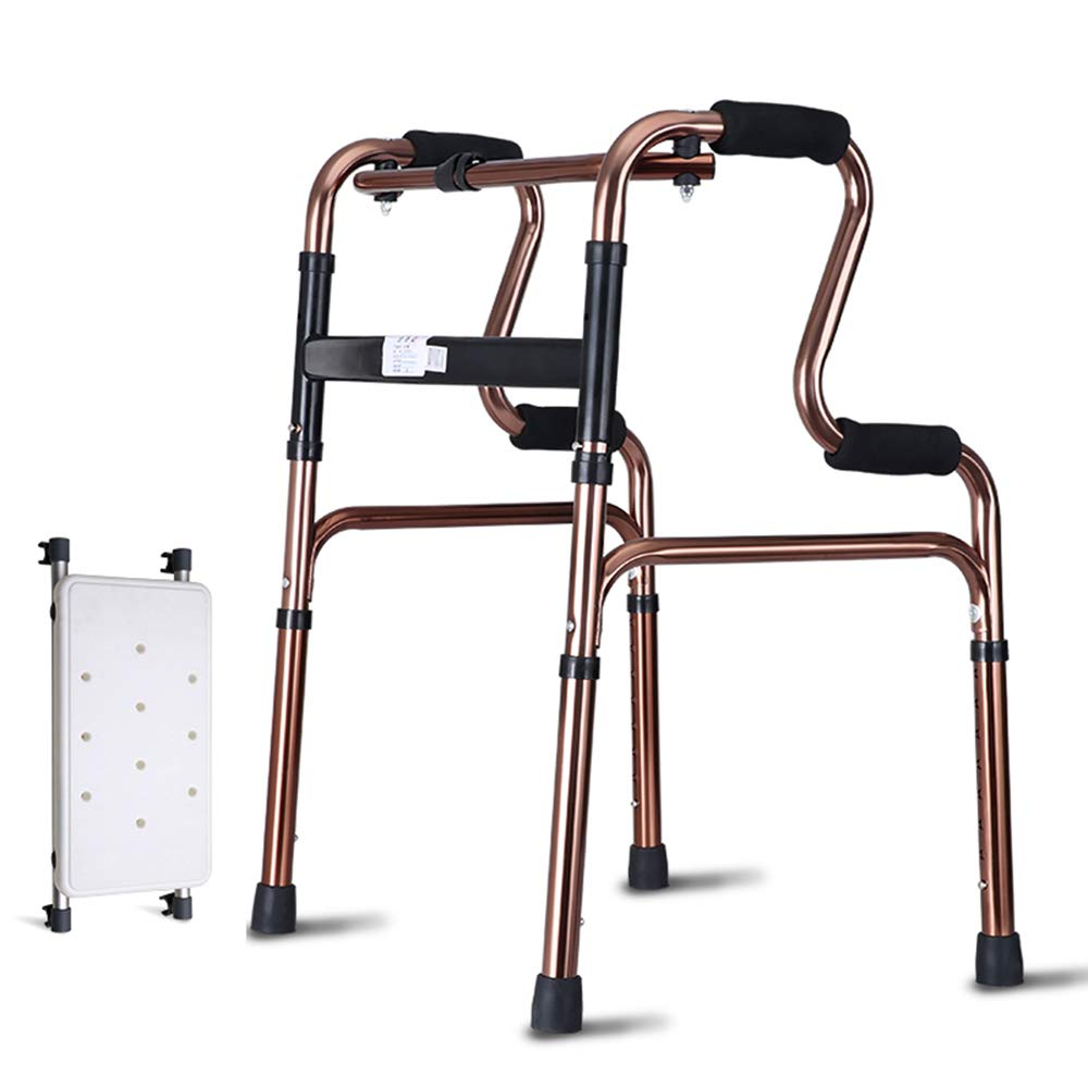 XXHDEE Elderly Walker Walking Assisted Walking Frame Disabled Pulley/Bath Plate Stainless Steel Walker Walking aids (Size : B) by XXHDEE
