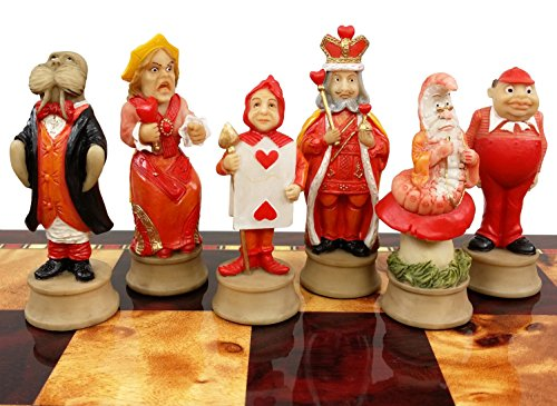HPL Alice in Wonderland Fantasy Chess Men Set - NO Board