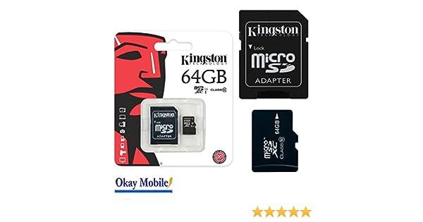 Original Kingston MicroSD SDHC Tarjeta de memoria 64 GB Tablet PC para Samsung Galaxy Tab A6 7.0 2016 T280 T285 – 64 GB