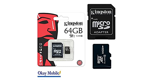 Amazon.com: Kingston Original microSD SDHC Memory Card 64 GB ...