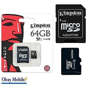 Kingston Original MicroSD Tarjeta De Memoria de 64 GB para Nikon® COOLPIX® L340 Aldi