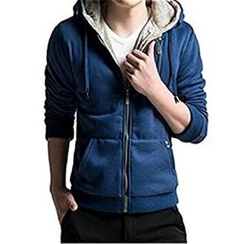 9e5ec45dd4b6 Unko Men's Casual Faux Fur Hoodies Outwear Sweatshirt delicate ...