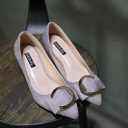 Bouche Pointue avec Et Femme 5 automne Danse à Cm Maigrir De La Talons Avec gray Pointe Faible Chaussures Hauts Printemps Des De xO7A8HX