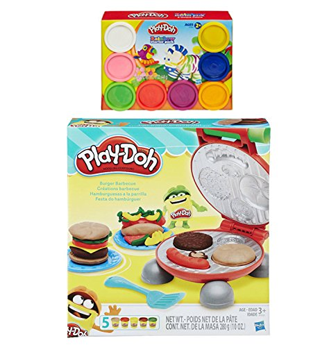 Amazon.com: Play-Doh Burger Barbecue Play Set + Play-Doh ...