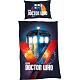 Doctor Who TARDIS In Time Single Panel Duvet Cover Bed Set, Muti-Colour