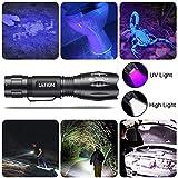 LETION UV Flashlight, LED UV Torch 2 in 1 UV