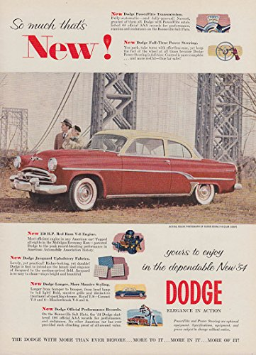 So much that's NEW! Dodge Royal Club Coupe ad 1954 T
