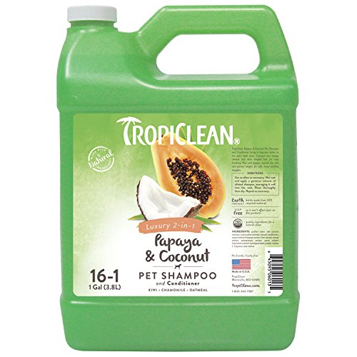 TropiClean Papaya & Coconut 2-in-1 Pet Shampoo, 1 (Puppy Shampoo Gallon)