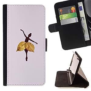 For LG G3 Case , Hoja del otoño profundo Lila- la tarjeta de Crédito Slots PU Funda de cuero Monedero caso cubierta de piel