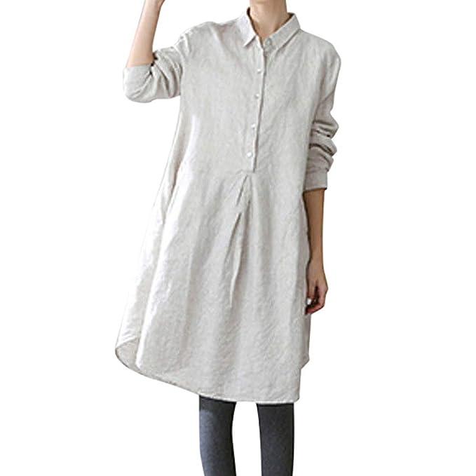 Blusa Mujer, BBestseller Otoño e Invierno Blusas para Mujer Camisas Mujer Solapa Larga sección Manga